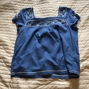Blue Floral Abercrombie & Fitch Top